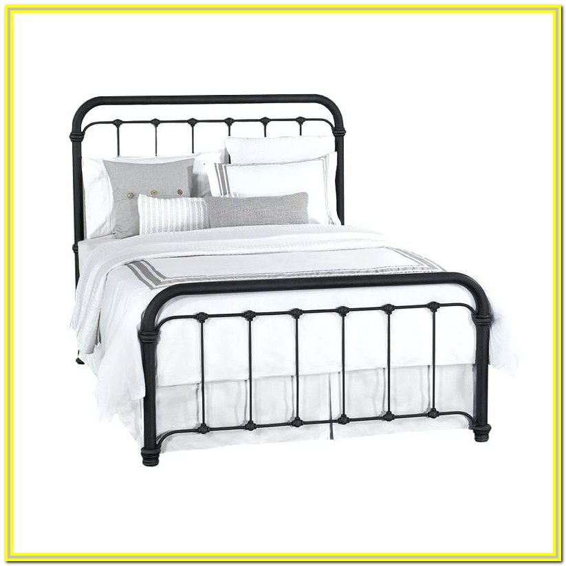 White Metal California King Bed Frame