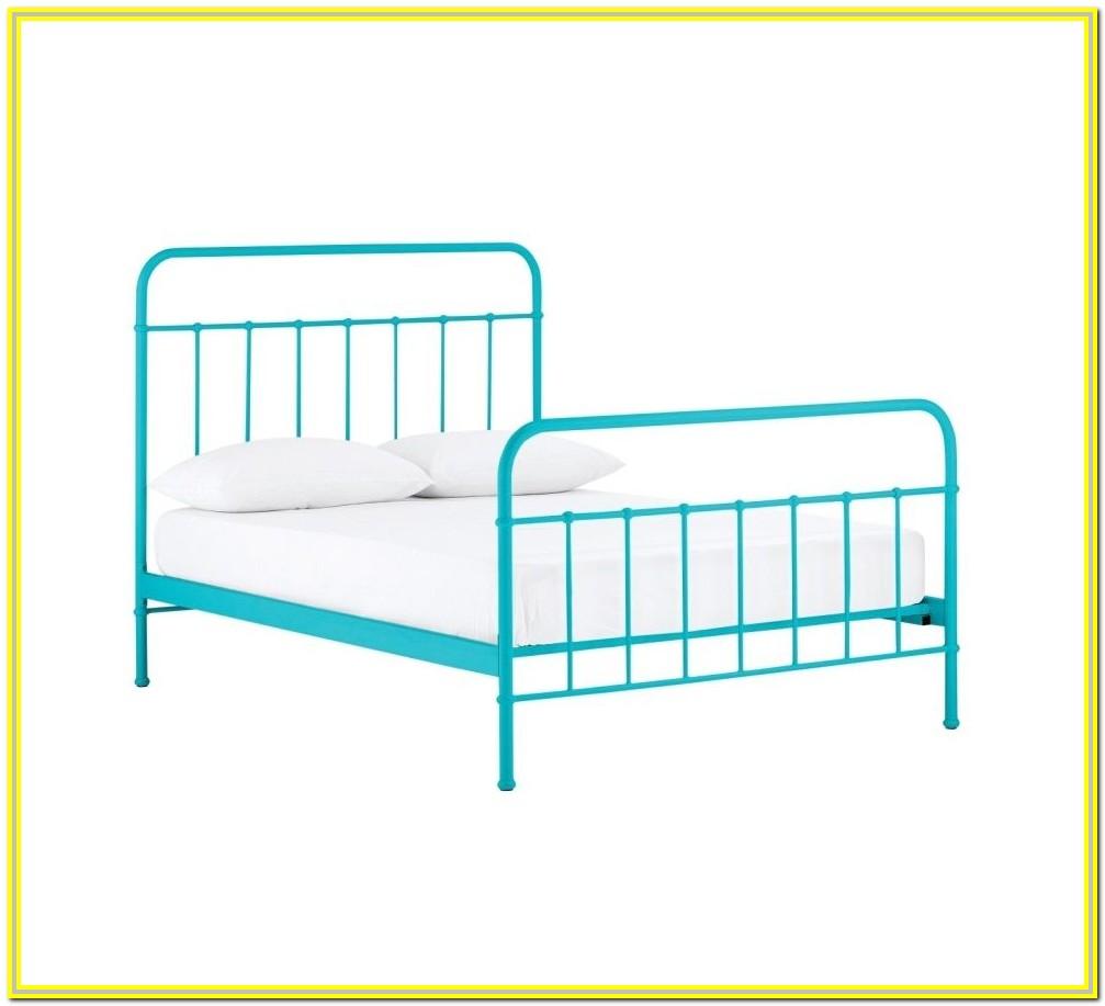 White Metal King Single Bed Frame