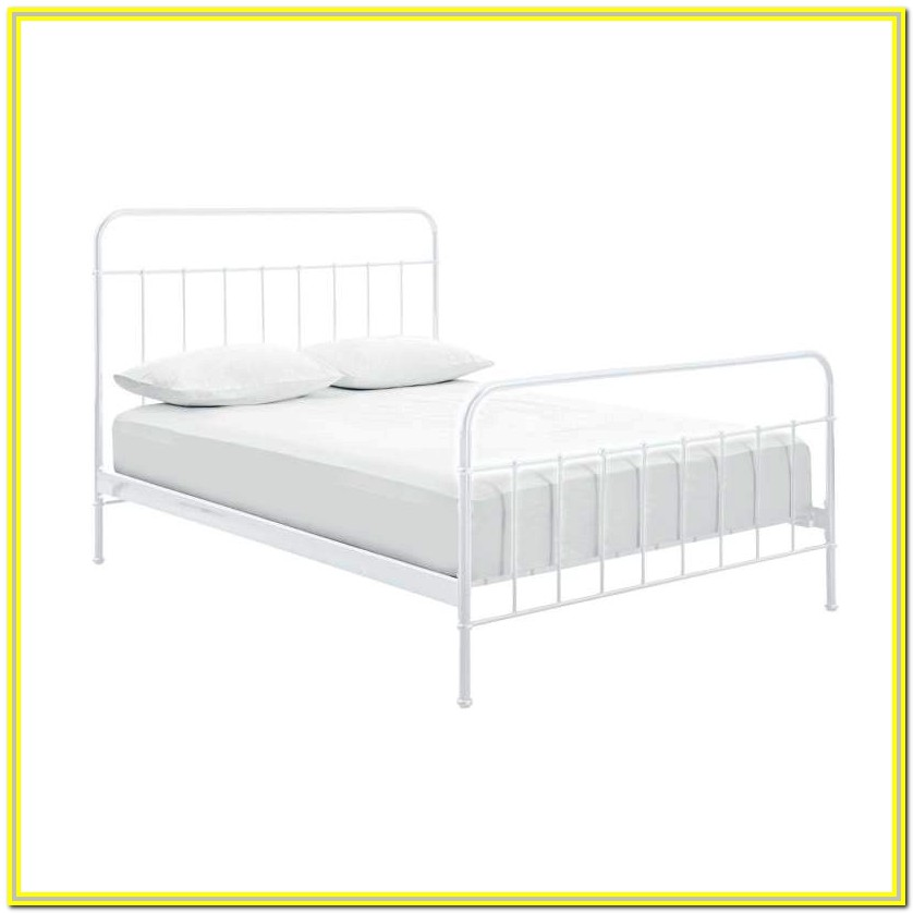 White Metal King Size Bed Frame