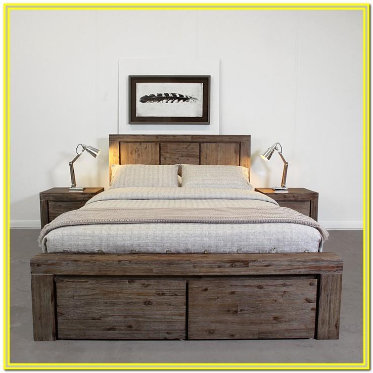 White Metal Super King Bed Frame