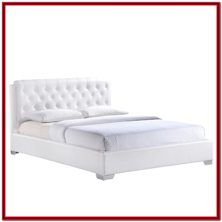 White Queen Bed Frame No Headboard