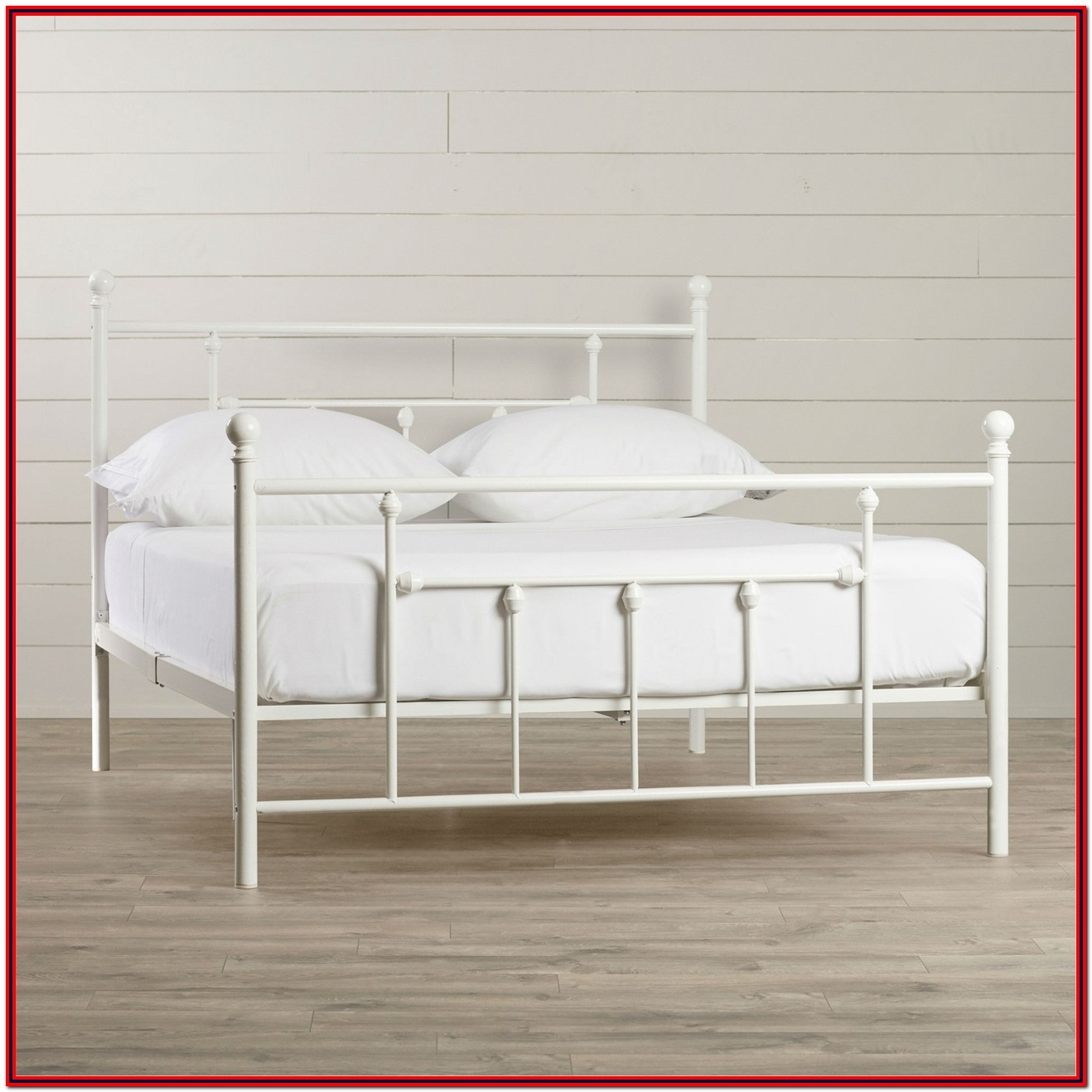 White Queen Bed Frame With Headboard And Footboard