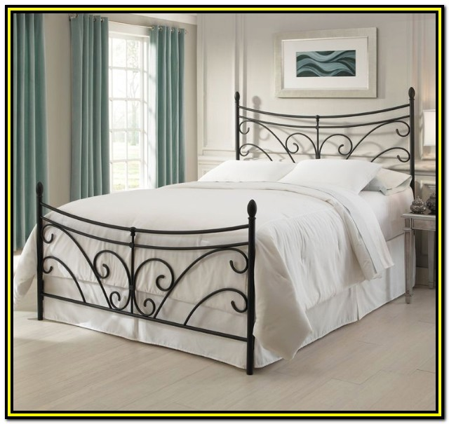 White Wrought Iron Bed Frames Queen Size