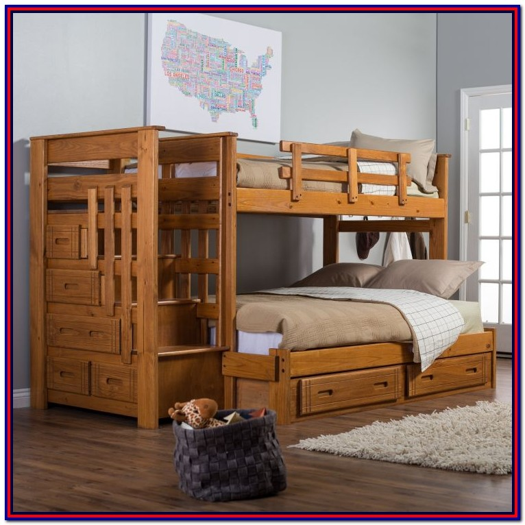 Wood Bunk Beds Twin Over Full Plans