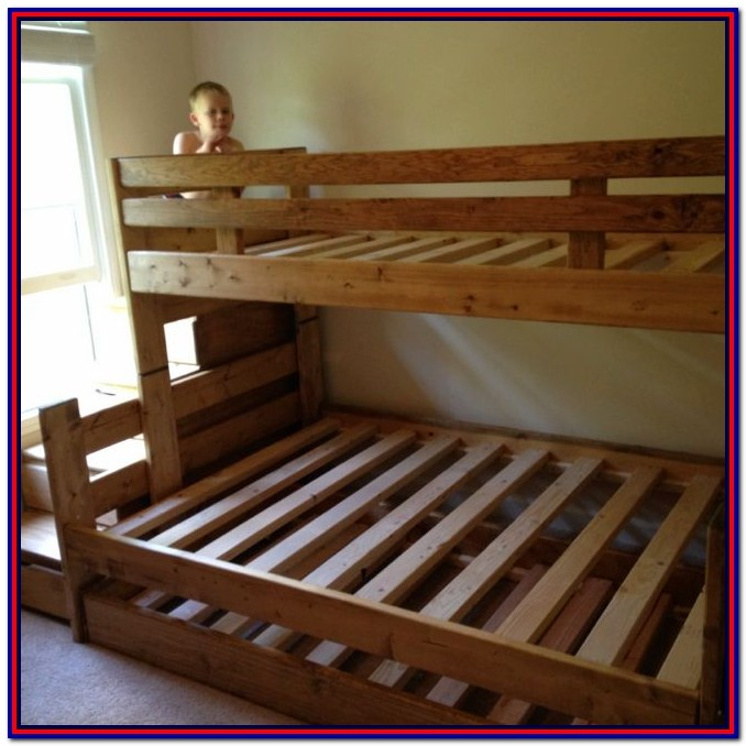 Wooden Bunk Beds Twin Over Full With Stairs