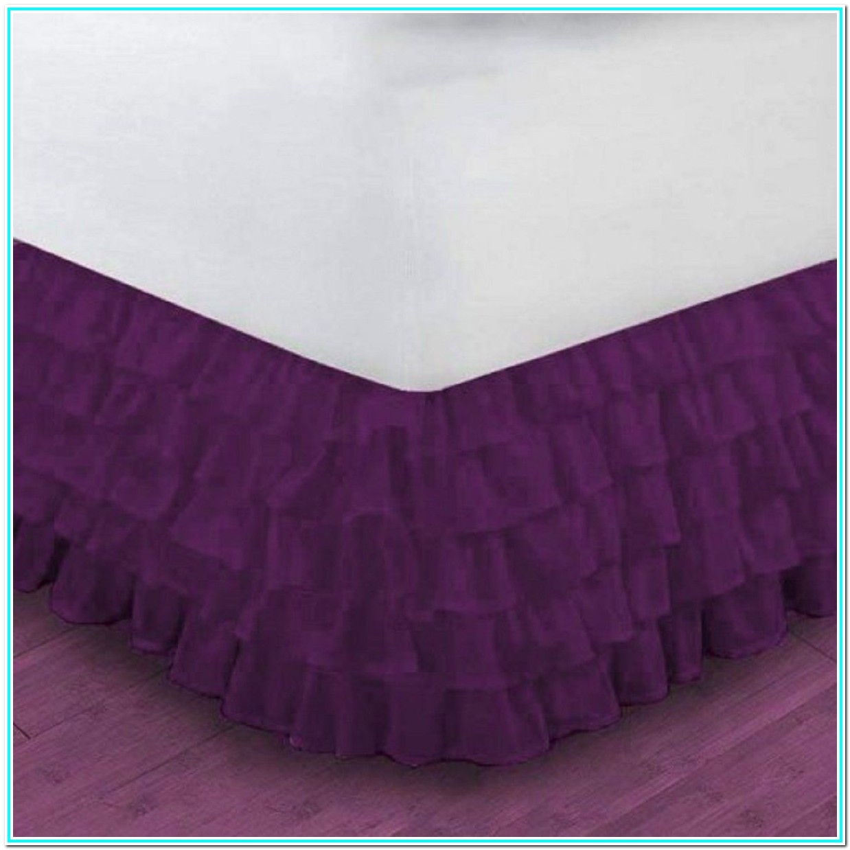 Wrap Around Bed Skirt 12 Inch Drop