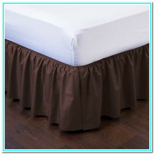 Wrap Around Bed Skirt With Split Corners