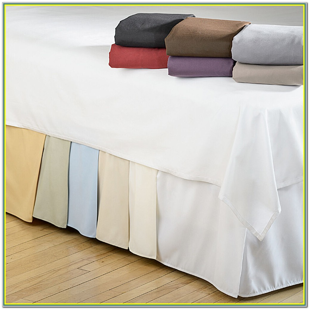 Wrap Around Split Corner Bed Skirt
