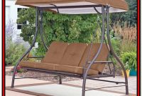3 Seat Canopy Porch Swing Bed