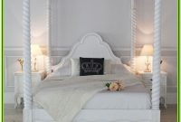 4 Poster King Bed White