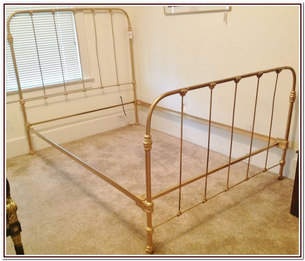 Antique Cast Iron Bed Frame Ebay