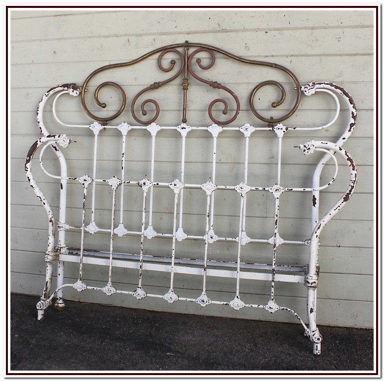 Antique Cast Iron Bed Frame Full
