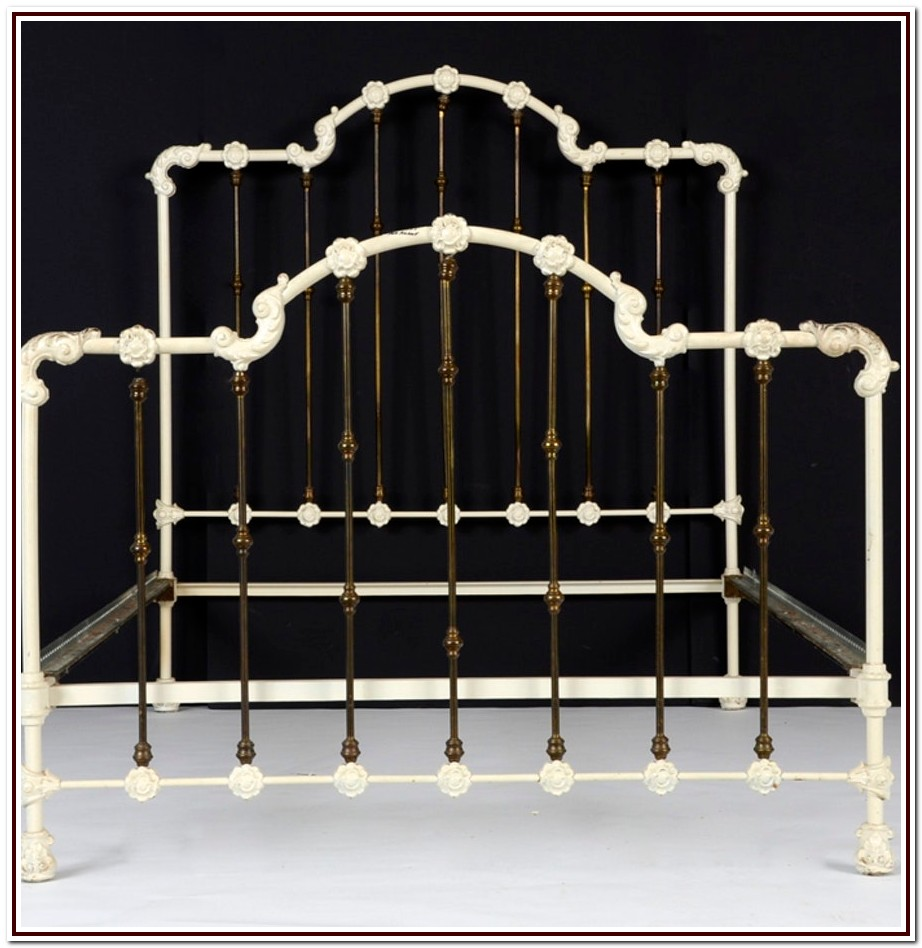 Antique Cast Iron Twin Bed Frame