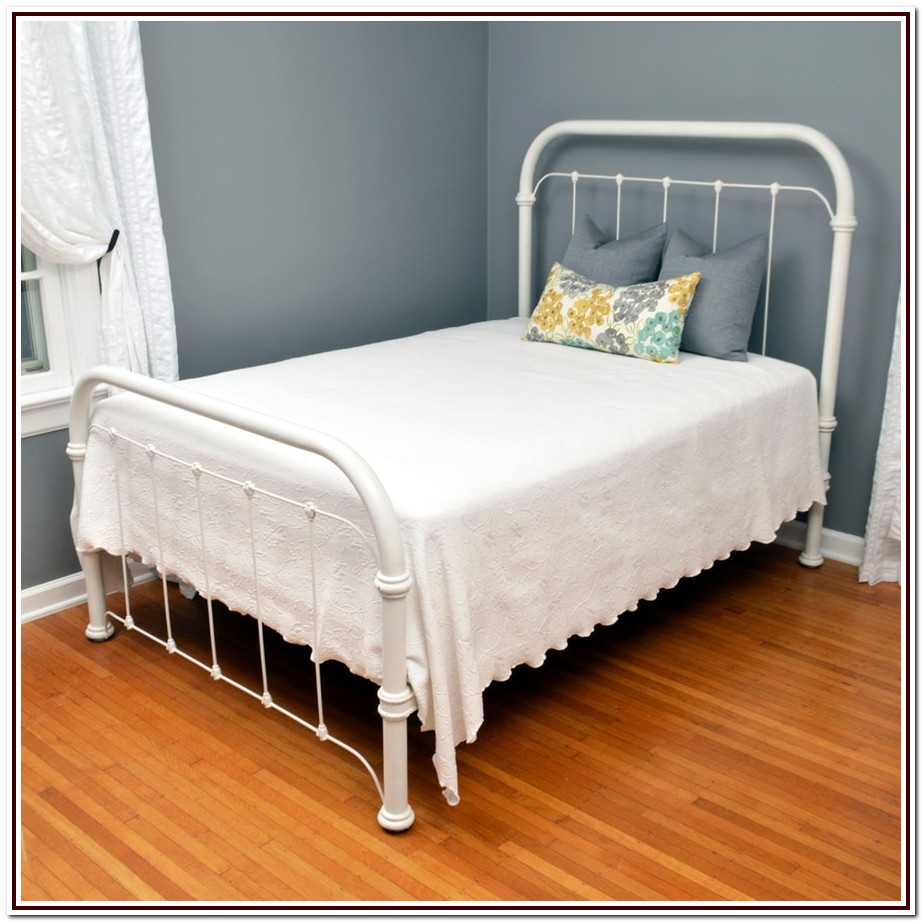 Antique Full Size Cast Iron Bed Frame