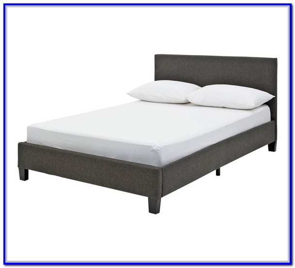 Argos Home Levena Double Fabric Bed Frame Grey