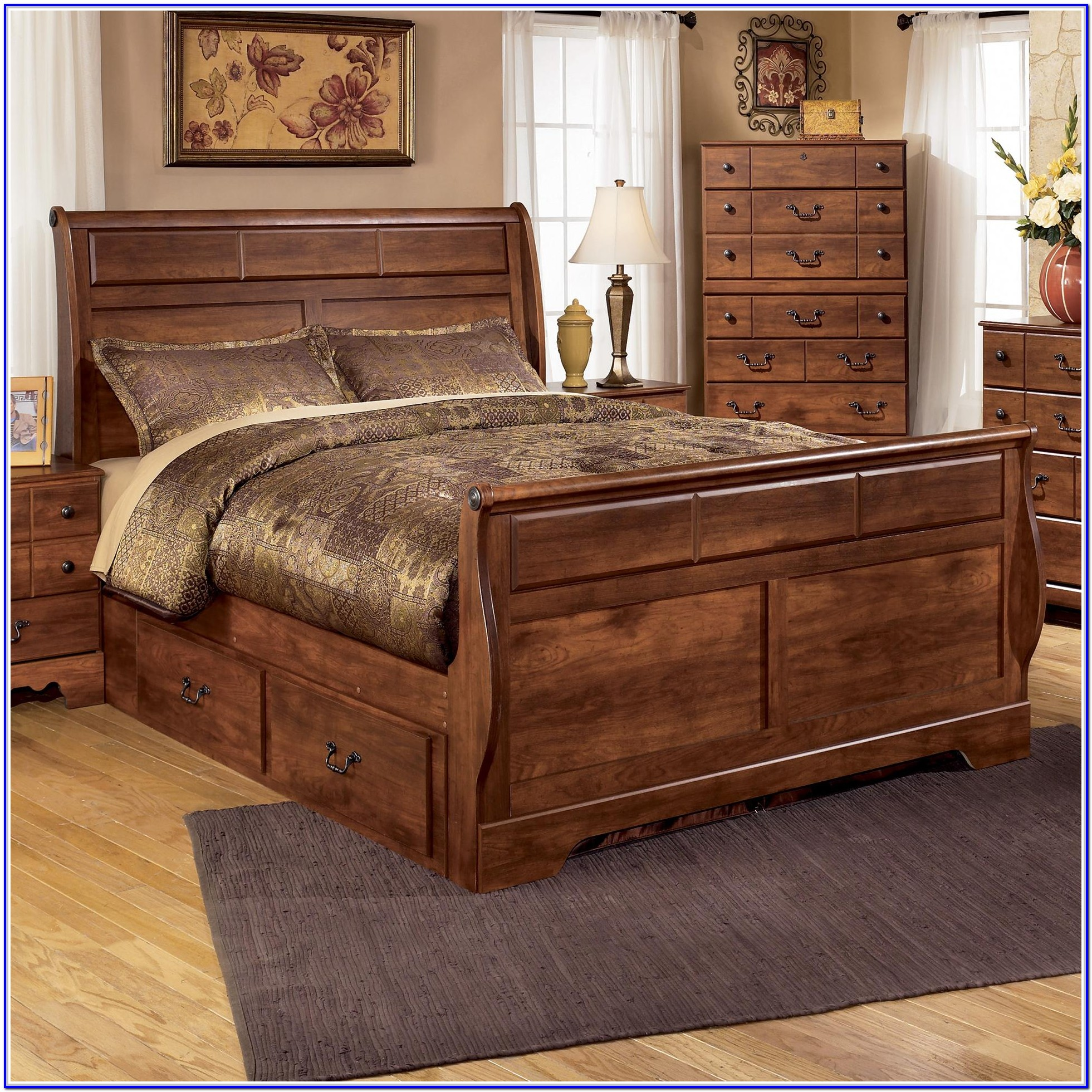 Ashley Furniture King Size Bed With Storage