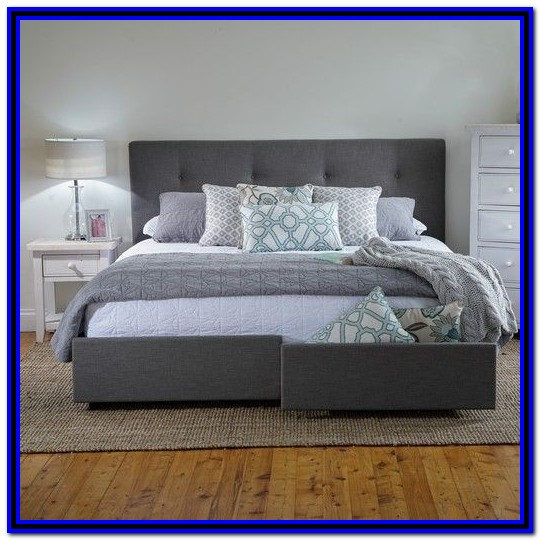 Bed Frame With Drawers King Plans