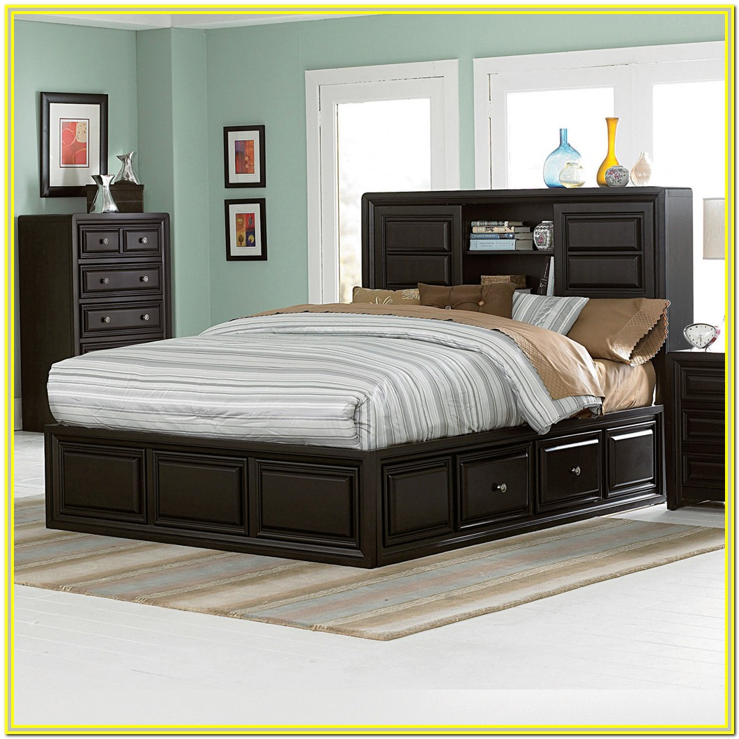 Bed Frame With Storage And Headboard Queen