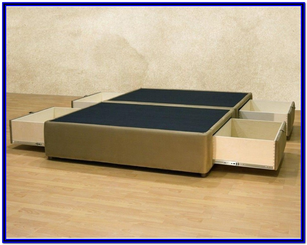 Bed Frames With Drawers King Size