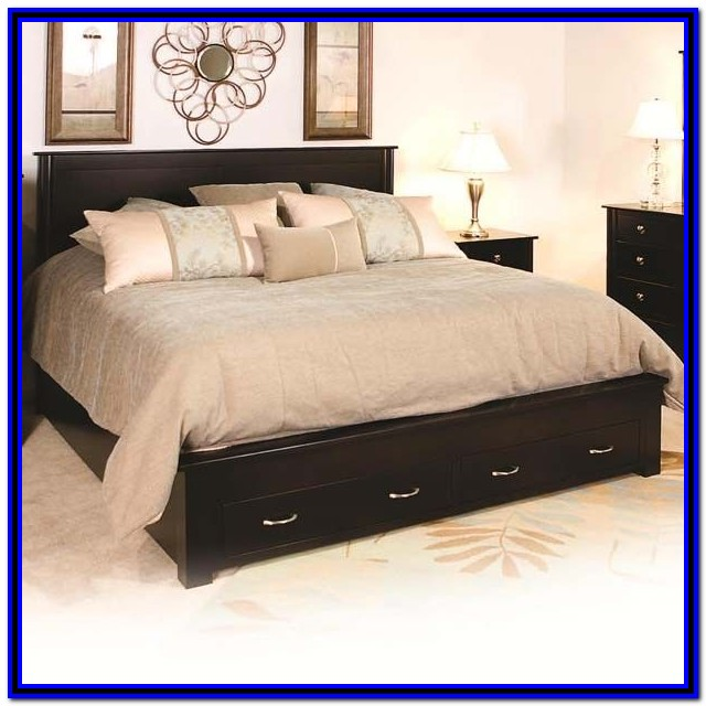 Bed Frames With Drawers King