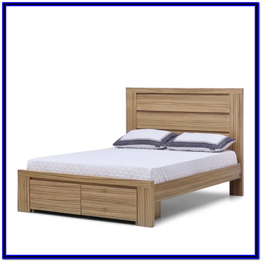 Bed Frames With Drawers Queen Size