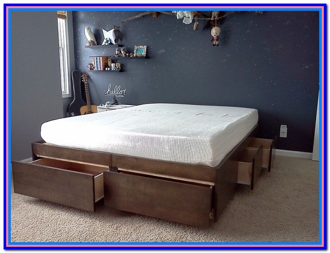 Bed With Storage Underneath Diy