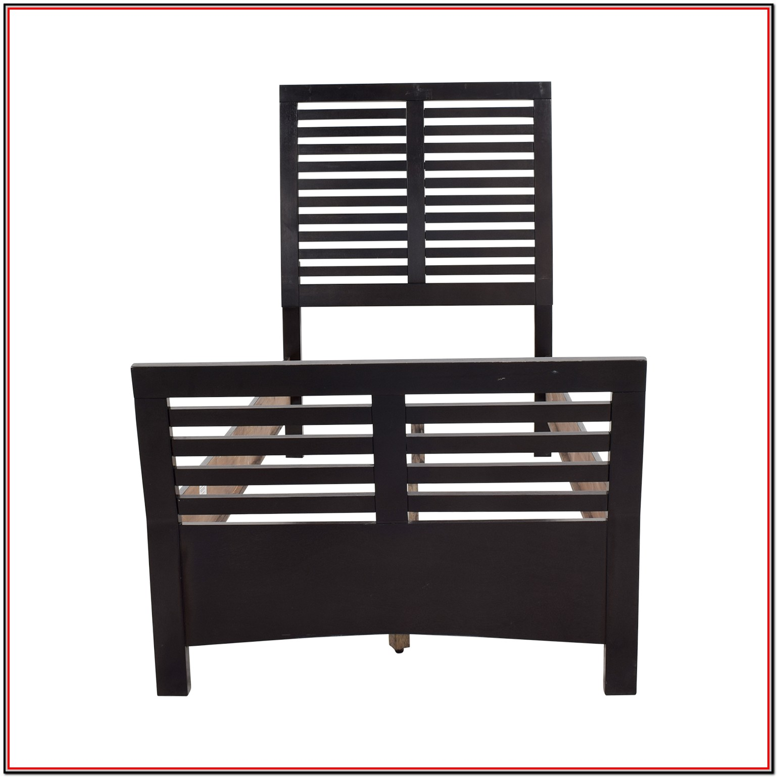 Bobs Furniture White Twin Bed