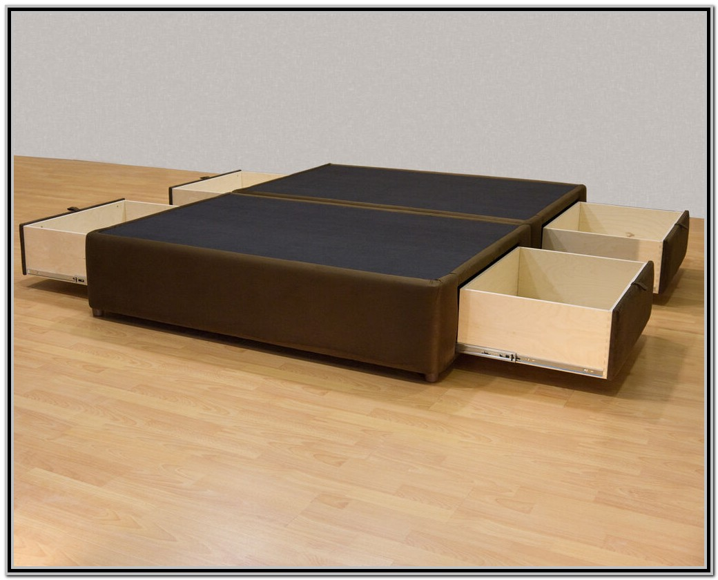 Build King Size Platform Bed With Drawers