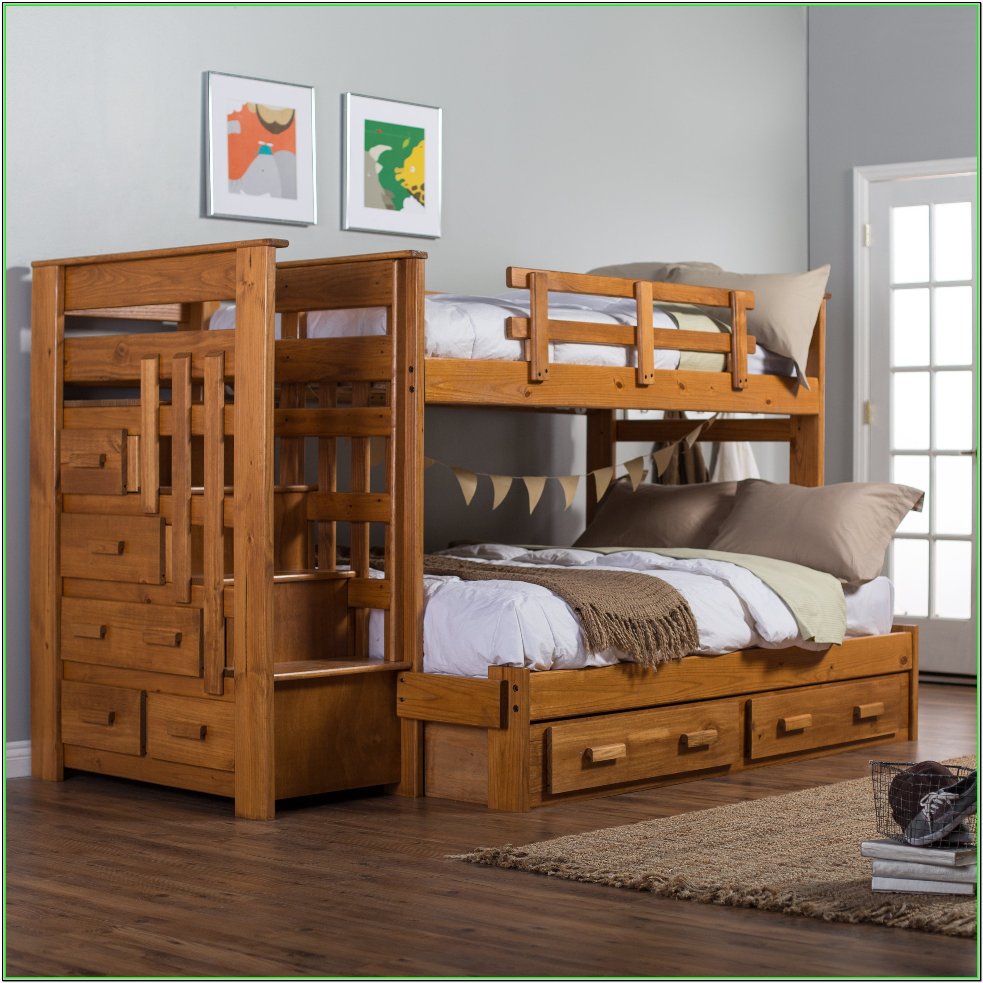 Bunk Bed Full Over Full With Stairs