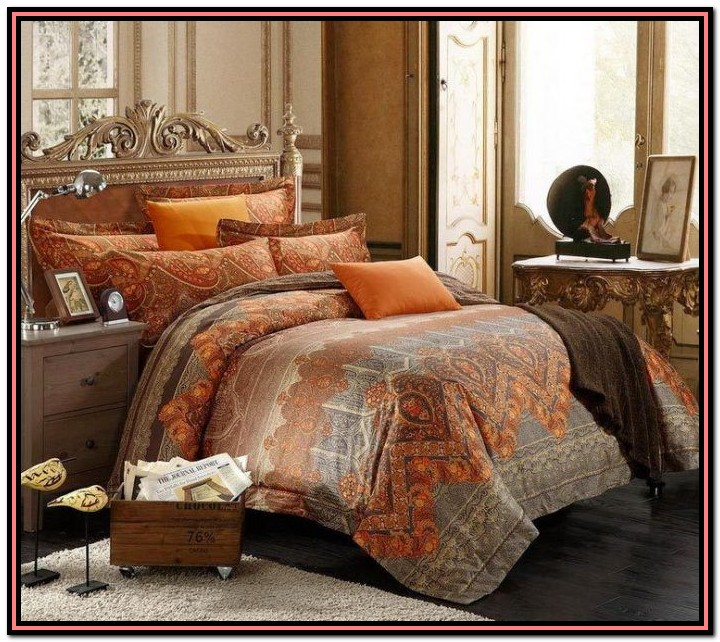 Burnt Orange And Grey Bedding