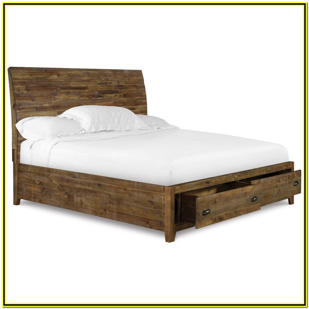 California King Bed Frame With Drawers Plans