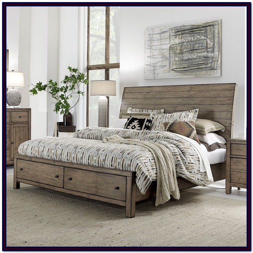 California King Storage Bed Platform