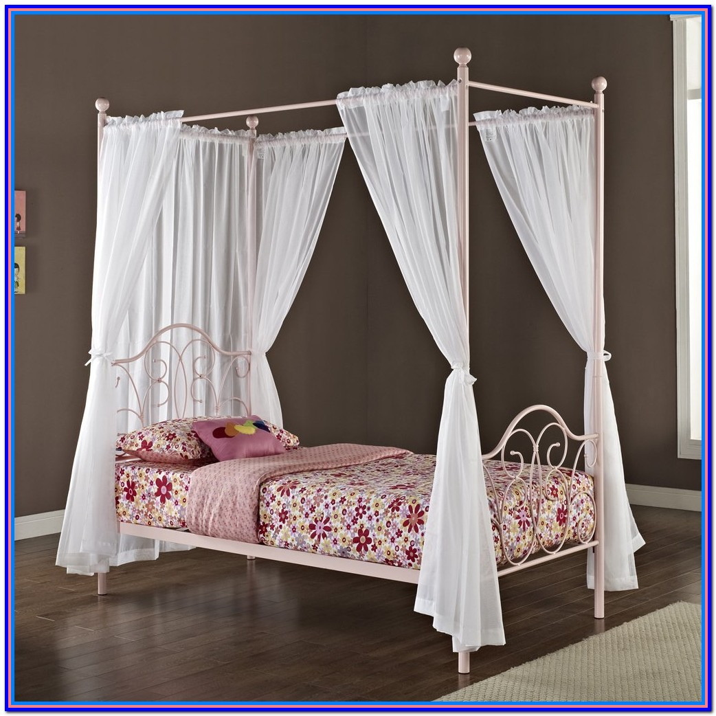 Canopy Bed Drapes Pink