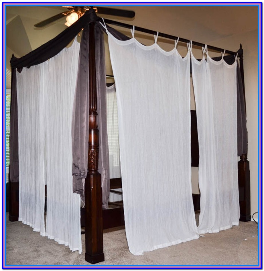 Canopy Bed Drapes Queen