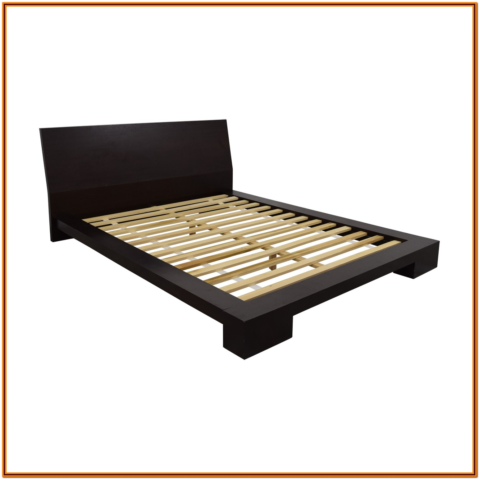 Crate And Barrel Wood Bed Frame