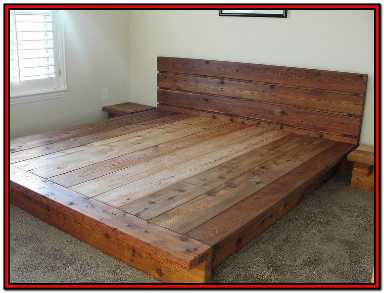 Diy King Platform Bed Frame Plans