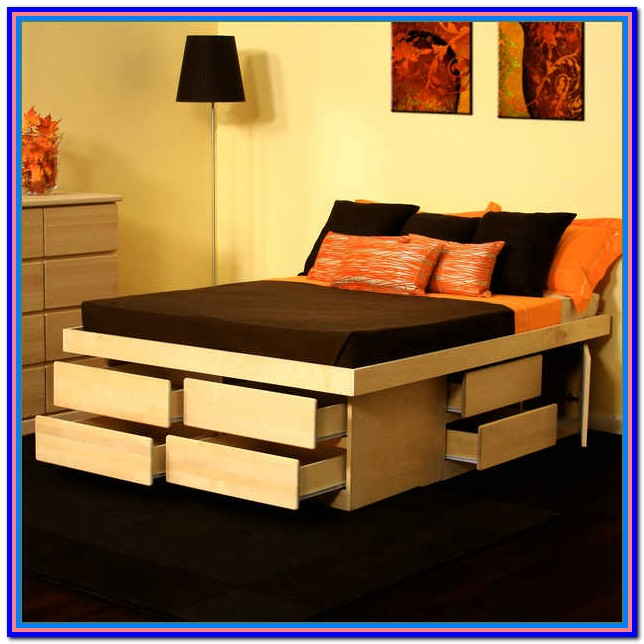 Diy King Platform Bed With Storage Underneath