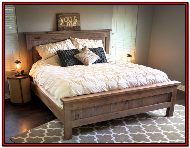 Diy King Size Bed Frame Plans Platform