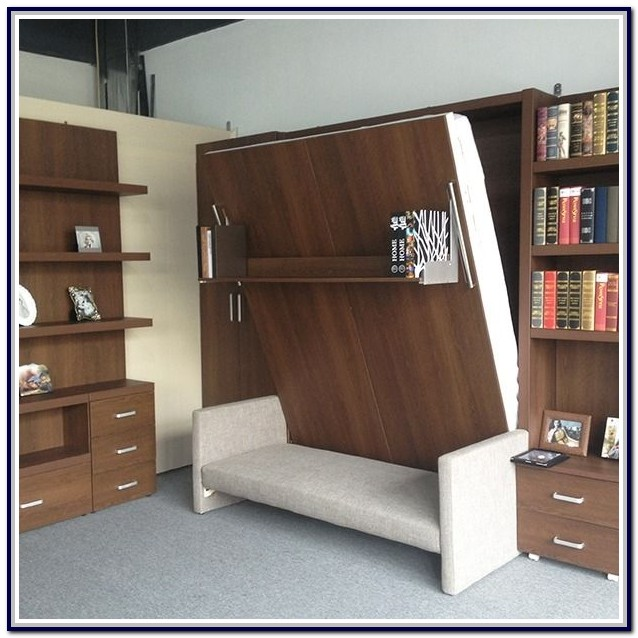 Diy Murphy Bed With Couch In Front