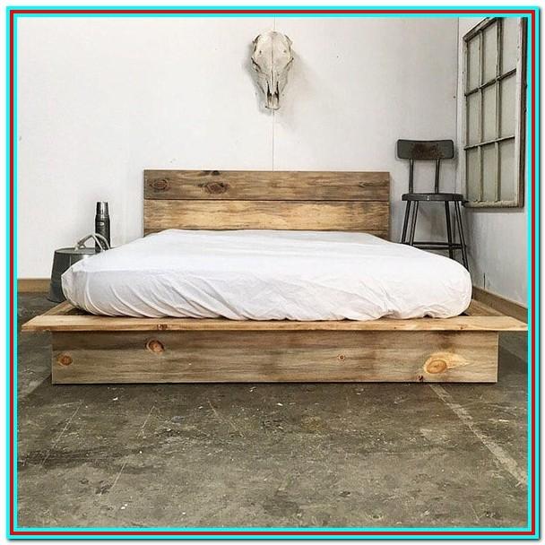 Diy Rustic Platform Bed Frame