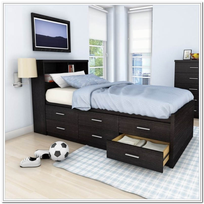 Extra Long Twin Bed Frame With Headboard