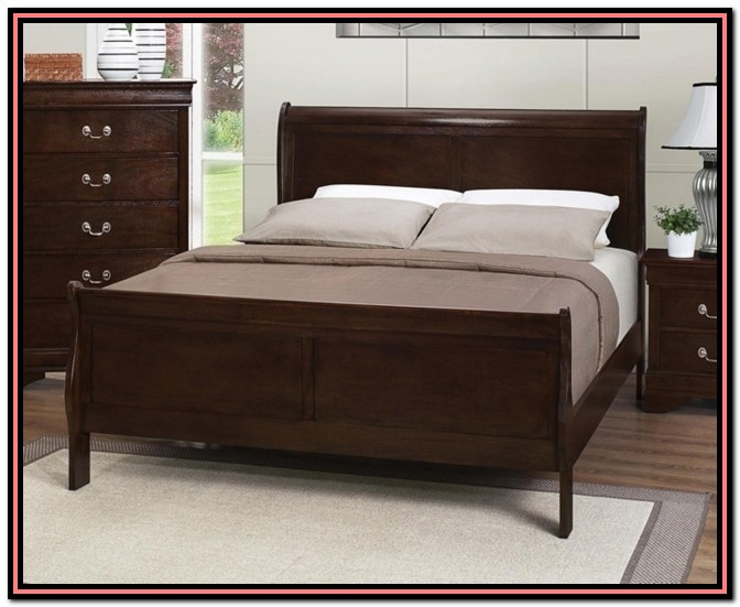 Full Bed Frame And Headboard Set