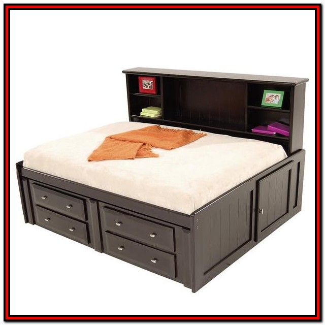 Full Bed With Drawers Plans