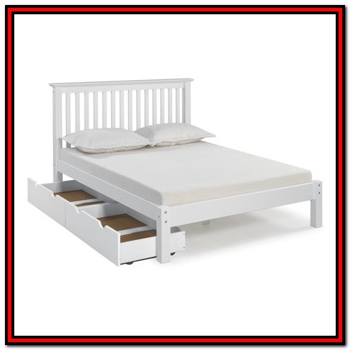 Full Bed With Drawers White