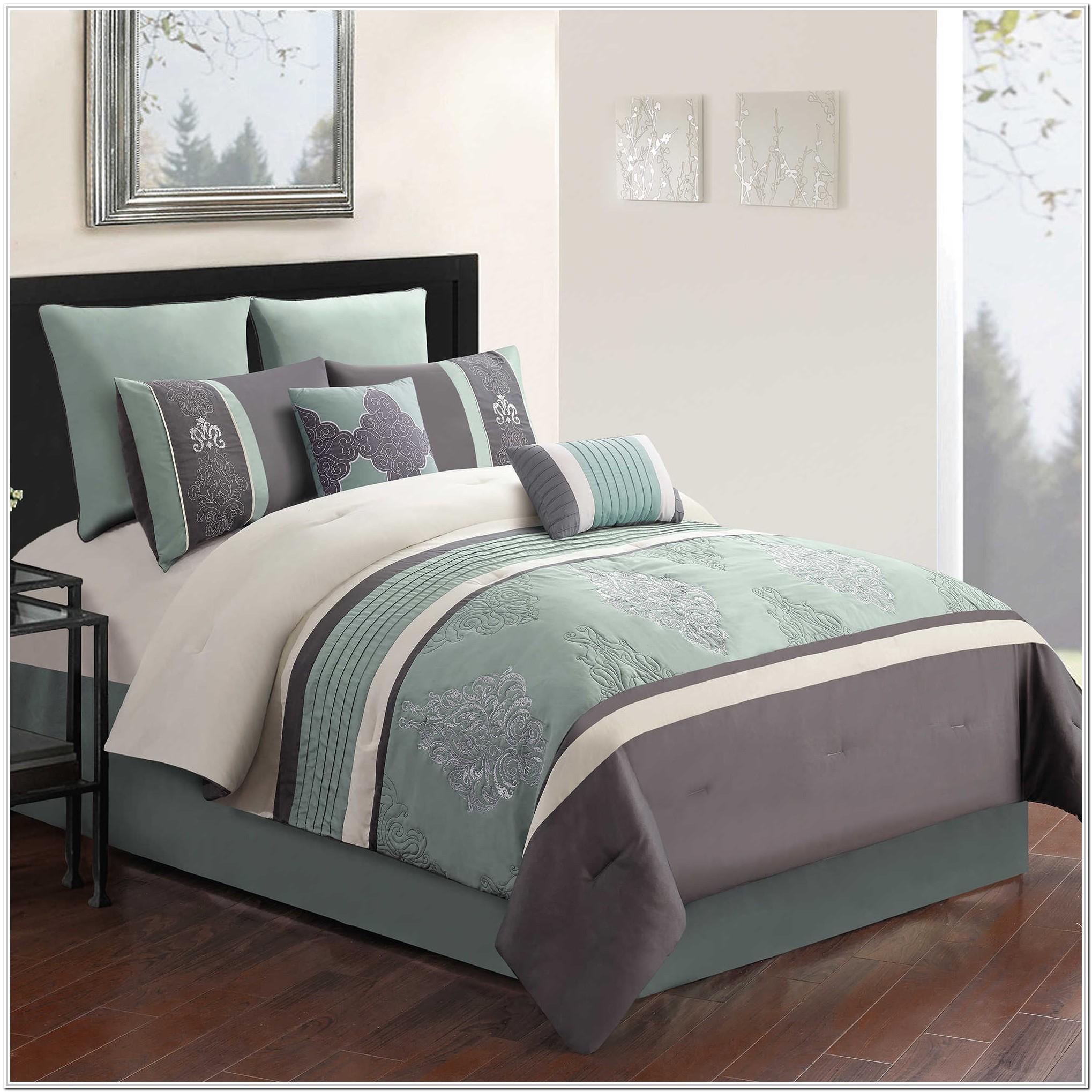 Full Size Bed Comforter Sets Black