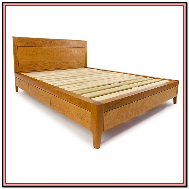 Full Size Bed Frame With Drawers Plans