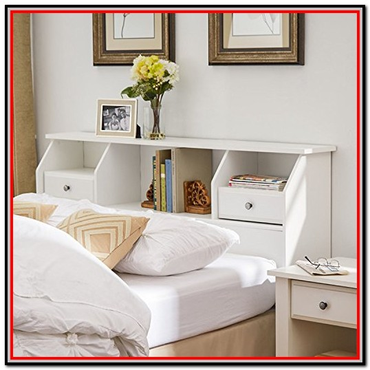 Full Size Bed With Drawers White