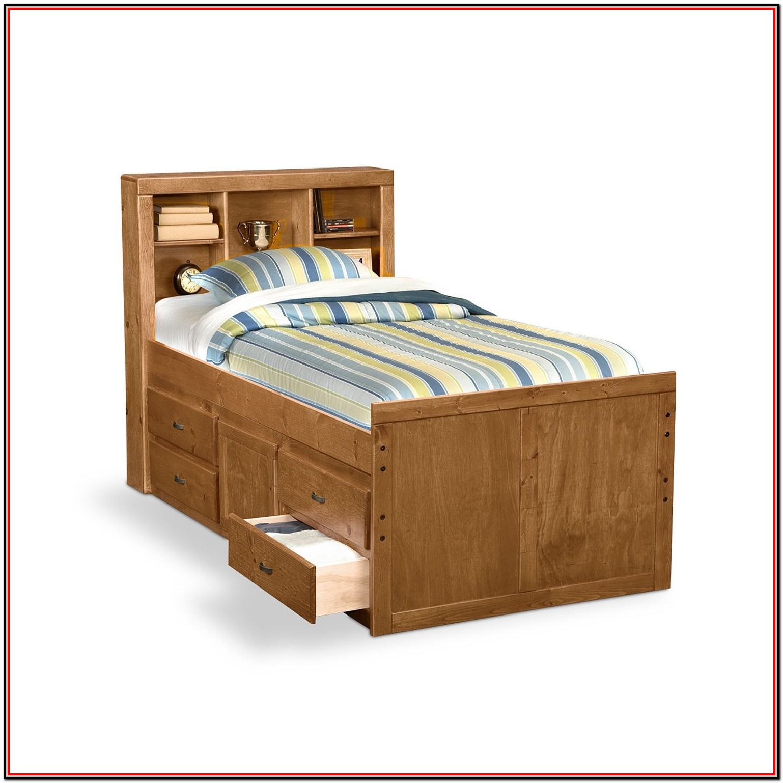 Full Size Bed With Storage Underneath