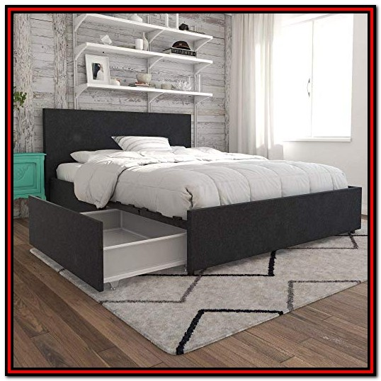 Full Size Beds With Storage Headboards