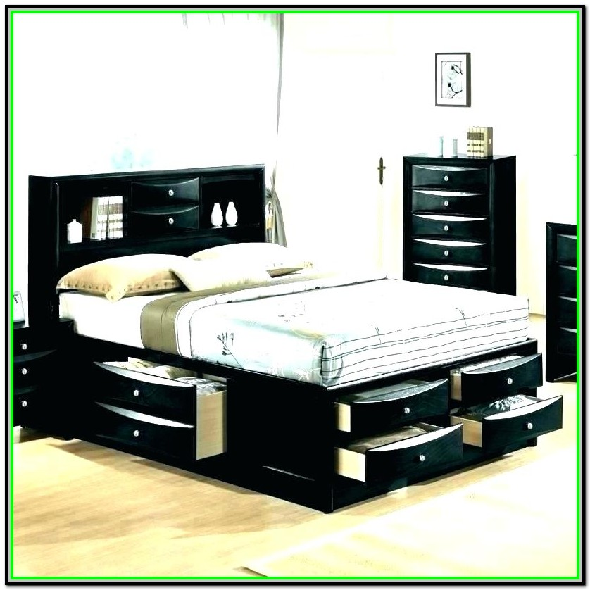 Full Size Captain Bed With Twin Trundle